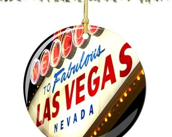 Las Vegas Porcelain Christmas Ornament Decoration