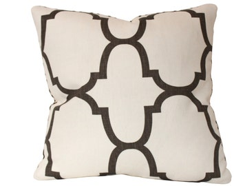 Riad Windsor Smith Geometric Pillow Cover in Clove Brown