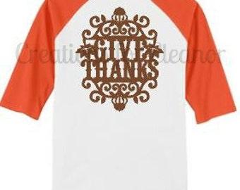 Thanksgiving Raglan Sleeve T-shirt