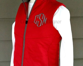 Womens Monogrammed Vest, Monogrammed Puffer Vest, Custom Embroidered Vest, Monogrammed Coat, Monogrammed Jacket, Custom Vest, Women's Vest
