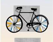 Bicycle Art Bike Print Boyfriend Gift Original Digital illustration Modern Nursery Poster