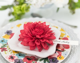 Red Wooden Place Cards, Rustic Wedding Place Cards, Escort Cards, Fall Place Cards, Bridal Shower Place Cards