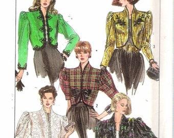 "Vintage 1989 Simplicity 8954 Lined Bolero Jacket Sewing Pattern Size 18 Bust 40"" UNCUT"