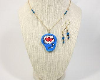 I've Got Love on My Mind – Statement necklace & Earring Set