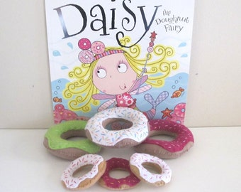 Donut Felt Play Food Set, Childs Book Felt Set