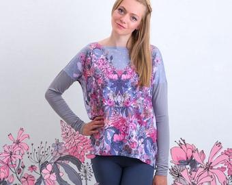 Wild flowers– oversize sweatshirt
