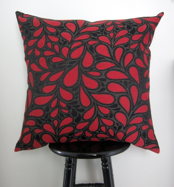 Red Pillow Cover 24x24 Decorative Pillows Modern Retro Floor