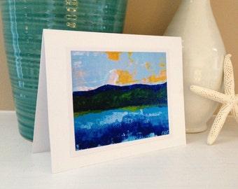Mountain Lake Sunrise Fine Art Print Greeting Card, 5x7