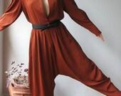 Vintage Harem Jumpsuit - Regina Kravitz 80s - Size L