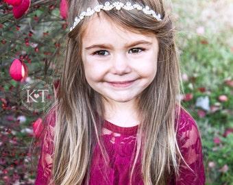 Ready to Ship- Mila Rhinestone Headband- Girl, toddler, child, flower girl, wedding, bridesmaid, bride, bridal, silver