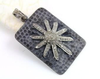 Pave Diamond Pendant, Pave Diamond North Star pendant, pave diamond star, Pave diamond stardust, (DCH/CR538/BL)