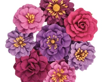 Purple PAPER FLOWERS, Pink Paper Flower, Prima Flowers, Prima Jacaranda Flowers, Mixed Paper Flowers, Mulberry Paper Flowers, Prima Flowers