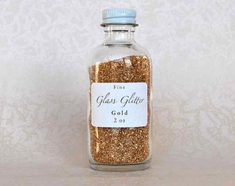 Gold GLASS GLITTER - Fine Gold Glitter - Gold Glitter - German Glass Glitter - Fine Gold Glass Glitter