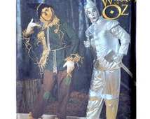 Wizard of Oz Scarecrow and Tin Man Costume Sewing Pattern - Sizes XS to X- Large Chest 32 to 48 - Simplicity 7820 UNCUT Halloween