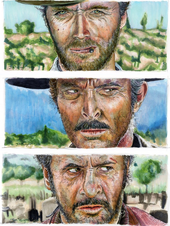The Good, the Bad, and the Ugly - Standoff Set of 3 Poster Prints