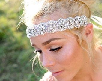 Crystal Headband ,Crystal Headband, Bridal Headband, Wedding HEadband, Wedding Hair Piece, Bridal Headpiece, Headpiece,hair jewelry