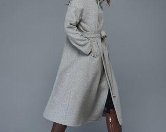 womens coats,  trench coat, wool coat, grey coat, winter coat, long coat, coat, jacket, womens coats, winter coat, wool jacket  C961