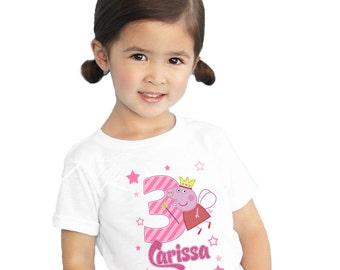 Peppa Pig Iron on Transfer - Tshirt | Shirt | Peppa Pig Party | Birthday Shirt | Brother Pig | George Pig | Fairy Party | Theme | Princess