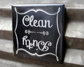 Chalkboard Style Clean Dirty Dishwasher Magnet - Retro vintage dishes plates sign birthday christmas office home party favors gag gift idea