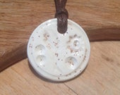 Essential Oil Necklace Scottish Cream Thistle Diffuser Pendant Aromatherapy Jewellery  Handmade in UK - buy 2 get 1 free