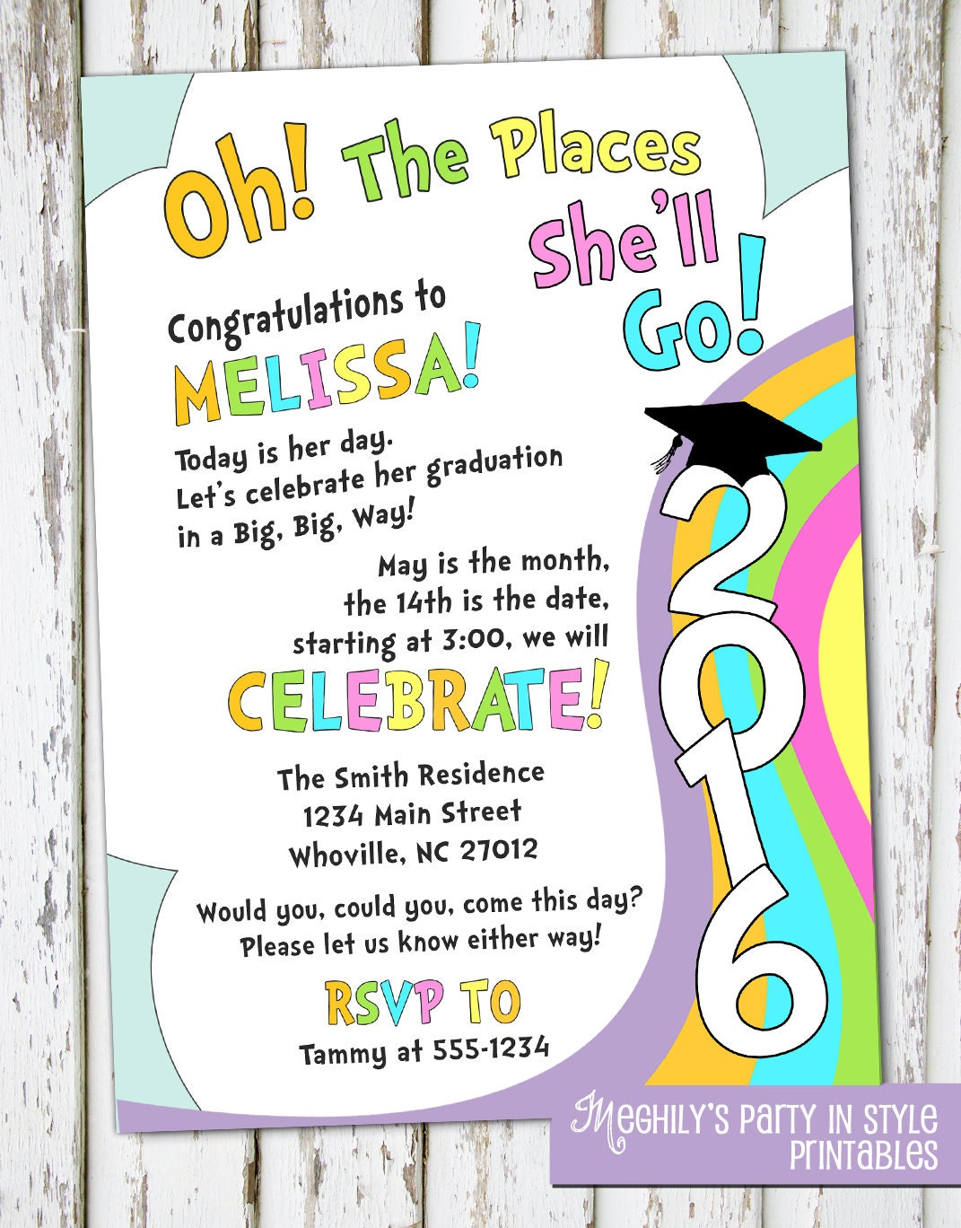 Party Invitations Message with nice invitation layout