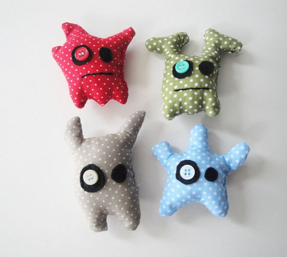 Little cotton fabric monsters for boys for Little boy fabric