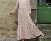 Maxi dress, Boho Dress, Plus size dress, Long Dress, Satin Dress, Dress with Pockets, Long sleeves dress