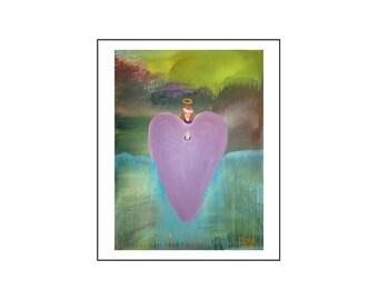 ANGEL HEART, original painting acrylic on canvas