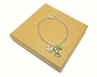 Frog Necklace or Frog Bracelet, Frog Jewellery, Frog Jewelry, Personalised Frog Initial Jewellery, Frog Charm Bracelet, Frogs