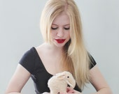 Woolly Mammoth Plushie - Mohair toy - Handmade