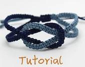 eBook (Ocean) - Tutorial to Chinese knot macrame bracelet Friendship/Wish Bracelet-Instant download Pattern- FREE SHIPPING