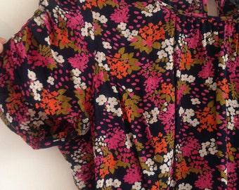Vintage 90s Topshop Summer Day Dress retro floral teadress UK 12