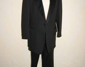 Vintage AFTER SIX Black Mens Tuxedo Jacket Size Large Pants 40 Inch Waist