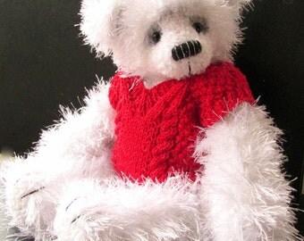 Gregory - An OOAK crochet artist bear