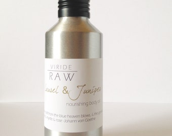 Bay Laurel & Juniper~nourishing body oil/Stress relief/Reparative/Aromatherapy/Massage oil/Glowing skin/Moisturizer/Anti-aging oil-5oz.