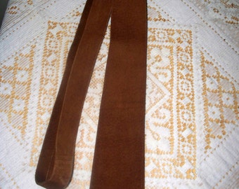 Vintage Suede Men's Tie  - Nutmeg Brown - Unmarked