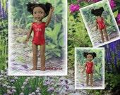 Wellie Wishers Red USA Doll Leotards