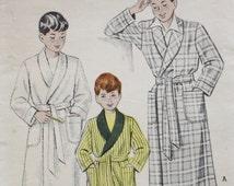Boys Shawl Collar Robe Sewing Pattern Butterick 6276 Sz 4