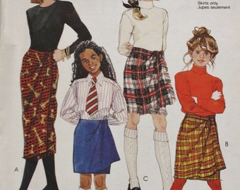 One Hour Wrap Skirt McCalls 6165 Vintage Sewing Pattern Waist 25.5-26.5