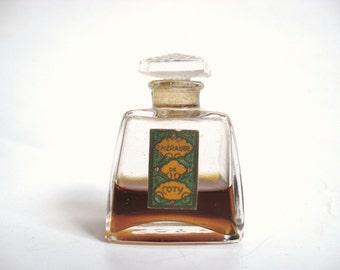 DECO Vintage 1920s EMERAUDE de COTY Paris France Miniature French Crystal Perfume Bottle Downton Abbey Nouveau Gatsby Jazz Era