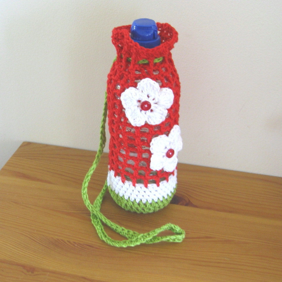 Pattern crochet pattern for a water bottle carrier photo this is a digital file bankloansurffo Choice Image