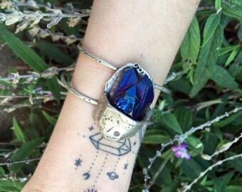 blue quartz bracelet OOAK