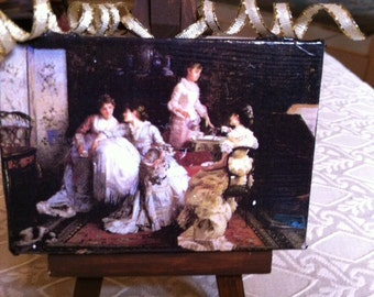 Artist Easel With Painting Ornament