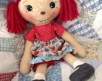 Primitive raggedy Ann doll, Eloise