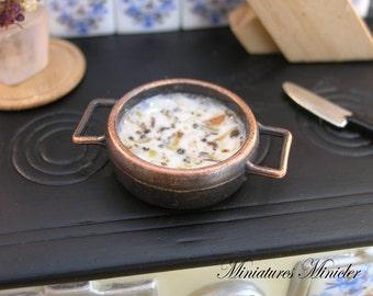 Miniature Dollhouse Spring Vegetable Cream Soup
