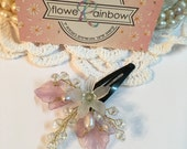 Flower Girl Headpiece Pearl, Flower Girl Hair Accessories, flower girl hair clip, flower girl hair piece, flower girl flower headpiece