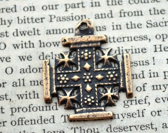 Jerusalem Cross - Bronze or Sterling Silver - Vintage Replica - Made in the USA (C-1316)