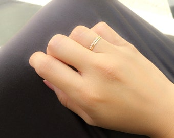 Gold Filled Dainty Ring Set | Set of 2 Gold Rings