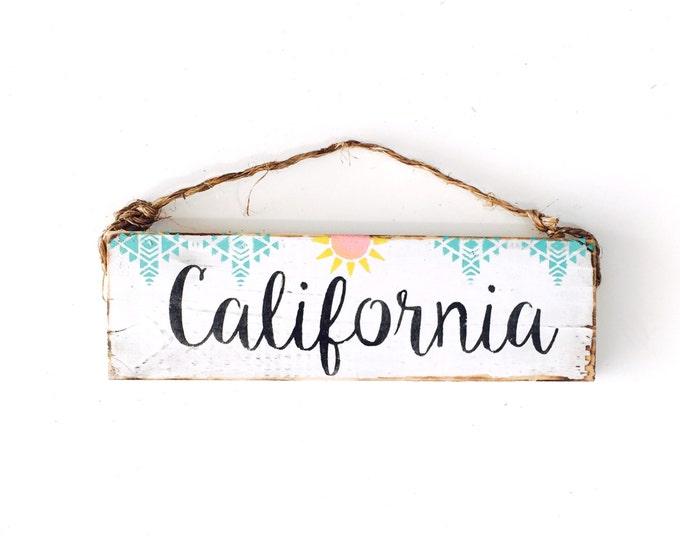 California Sign / Sea Gypsy California / Golden State / Dorm Room/ California Art / gift / welcome sign