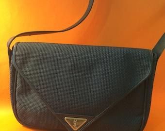 YVES SAINT LAURENT Ysl Vintage bag, grey pvc  fabric